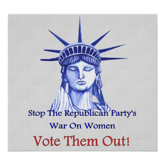 Stop The War On Women Poster