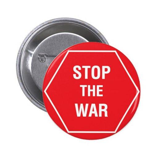 STOP THE WAR PINBACK BUTTON