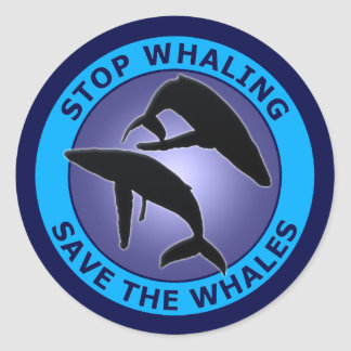 STOP THE WHALING SAVE THE WHALES STICKER