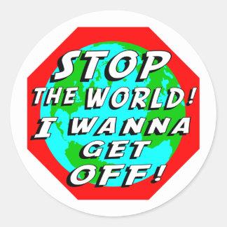 STOP the World! Classic Round Sticker