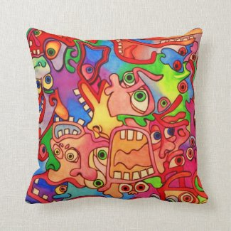 Stop the world, I want to get off! Throw Pillow