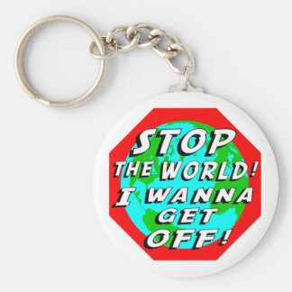 STOP the World! Keychain