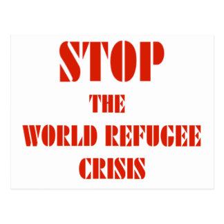 Stop the World Refugee Crisis Postcard