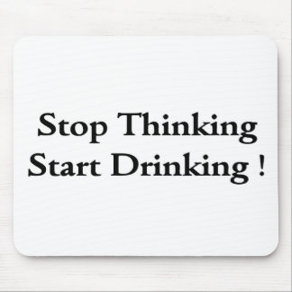 Stop thinking mouse mat