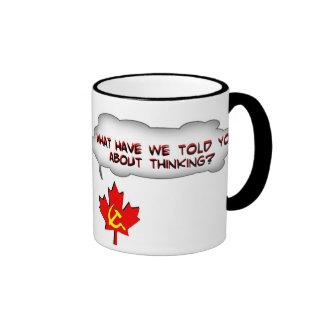 Stop Thinking Ringer Coffee Mug