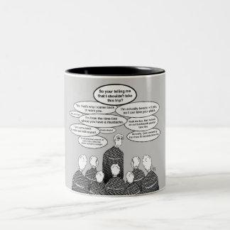 Stop Time Travel Two-Tone Coffee Mug