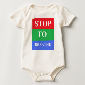 Stop-To-Breathe Infant Organic Creeper, Natural Baby Bodysuit