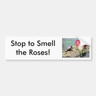 """""""Stop To Smell The Roses"""" Bumper Sticker"""