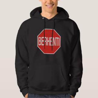 Stop, Traffic Sign, Malaysia Hoodie
