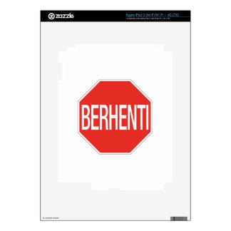 Stop, Traffic Sign, Malaysia iPad 3 Skins