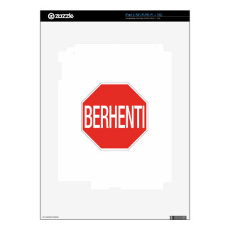 Stop, Traffic Sign, Malaysia iPad 2 Skins