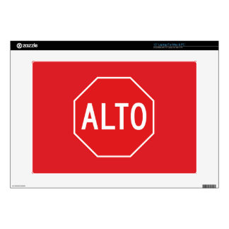 """Stop, Traffic Sign, Mexico 15"""" Laptop Decals"""