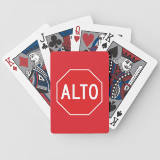 Stop, Traffic Sign, Mexico Bicycle Playing Cards