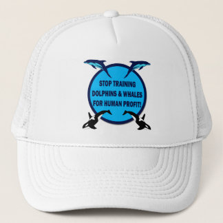 STOP TRAINING DOLPHINS & WHALES TRUCKER HAT