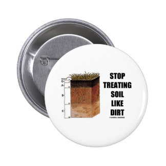 Stop Treating Soil Like Dirt (Soil Horizons) 2 Inch Round Button