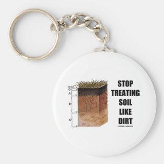 Stop Treating Soil Like Dirt (Soil Horizons) Keychain
