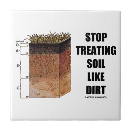 Stop Treating Soil Like Dirt (Soil Horizons) Small Square Tile