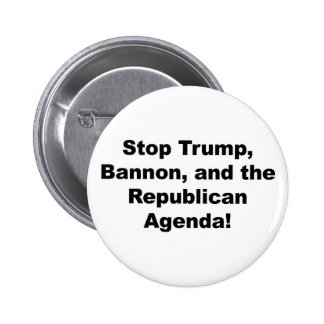 Stop Trump, Bannon and the Republican Agenda Pinback Button