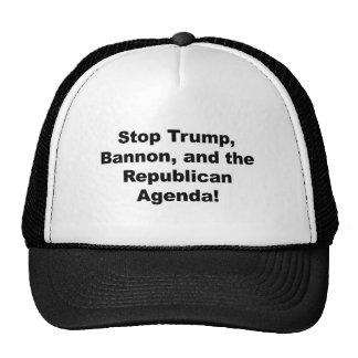 Stop Trump, Bannon and the Republican Agenda Trucker Hat