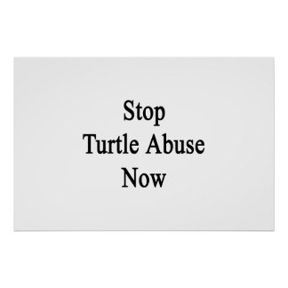 Stop Turtle Abuse Now Poster
