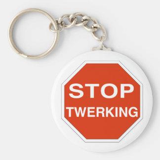 Stop Twerking Basic Round Button Keychain