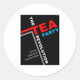 Stop Unfair Taxation Classic Round Sticker