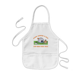 Stop Using Fossil Fuels Kids' Apron