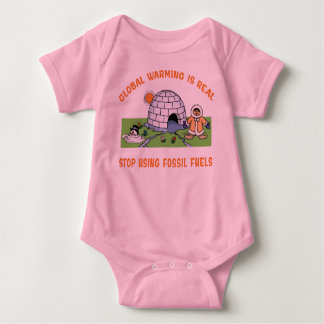 Stop Using Fossil Fuels Baby Bodysuit