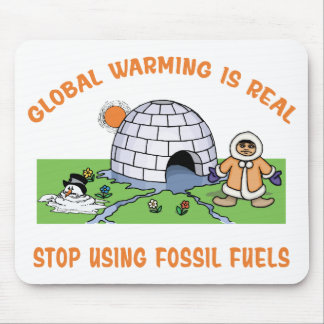 Stop Using Fossil Fuels Mouse Pad