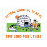 Stop Using Fossil Fuels Post Cards