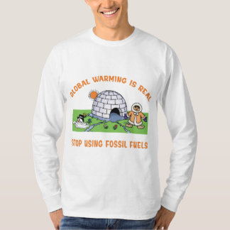 Stop Using Fossil Fuels Tee Shirt