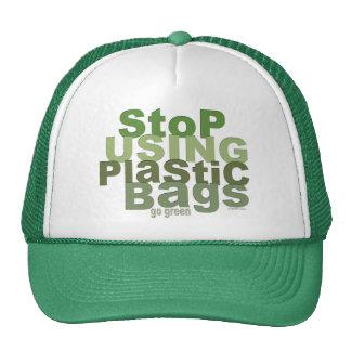 Stop Using Plastic Bags Go Green Hat