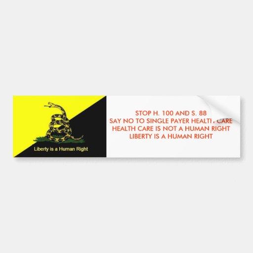 Stop Vermont Single Payer bumper sticker