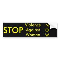 STOP Violence Against Women bumper sticker