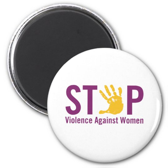 Stop Violence against Women Magnet