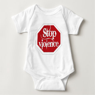Stop Violence Baby Bodysuit