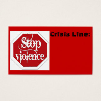 Stop Violence Business Card