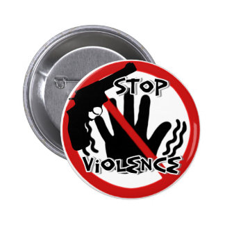 Stop Violence_Button 2 Inch Round Button
