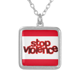 STOP VIOLENCE CAUSES BLOOD RED ABUSE JEWELRY