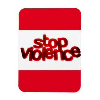 STOP VIOLENCE CAUSES BLOOD RED ABUSE FLEXIBLE MAGNETS