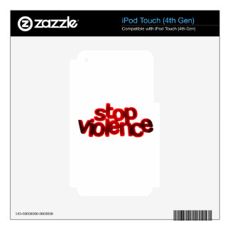 STOP VIOLENCE CAUSES BLOOD RED ABUSE iPod TOUCH 4G DECAL