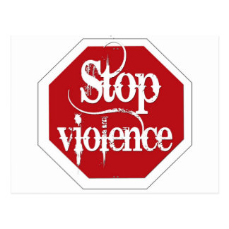 Stop Violence Post Cards
