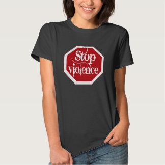 Stop violence stop sign shirt
