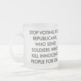 STOP VOTING FOR REPUBLICANS COFFEE MUG