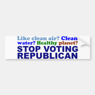 STOP VOTING REPUBLICAN BUMPER STICKER