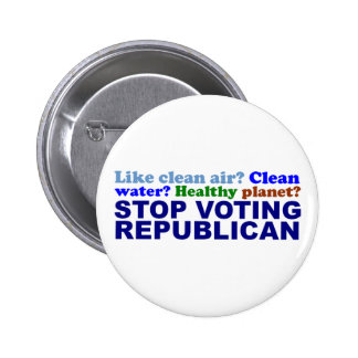 STOP VOTING REPUBLICAN PIN