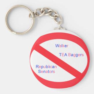 Stop Walker Keychain