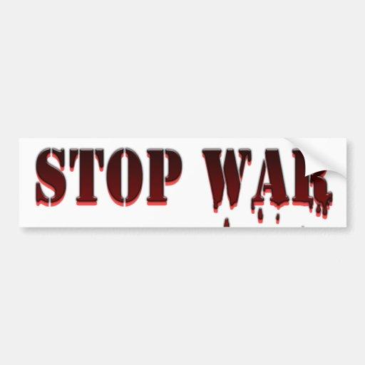 Stop War Bumper Sticker