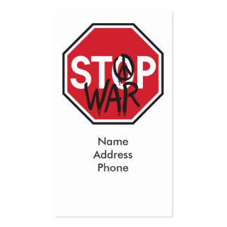 Stop War Business Card