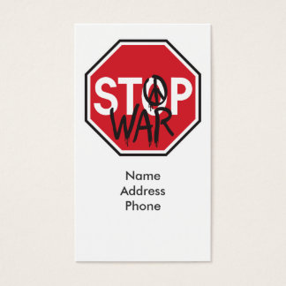 Stop War Business Card
